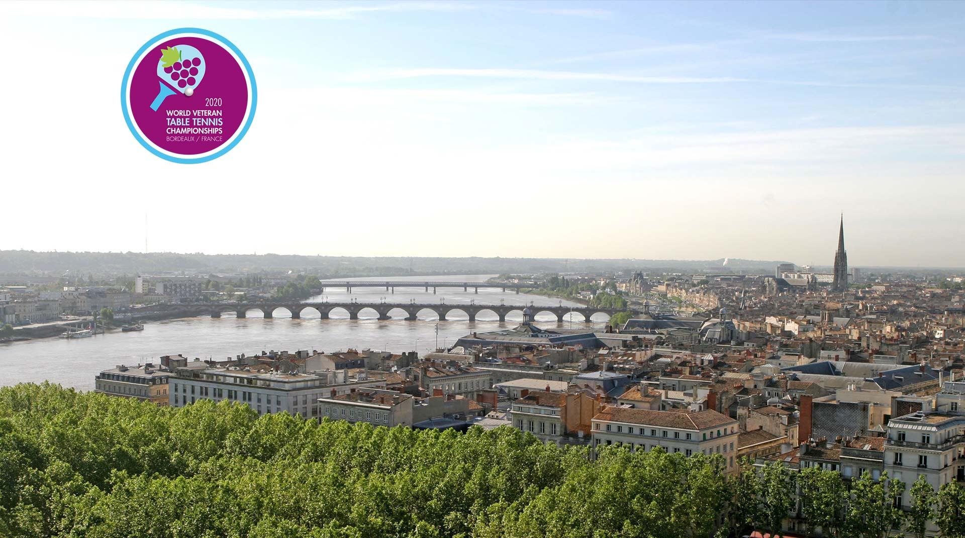 Programm online und als Download verfügbar: Tischtennis WM der Senioren 2020 in Bordeaux