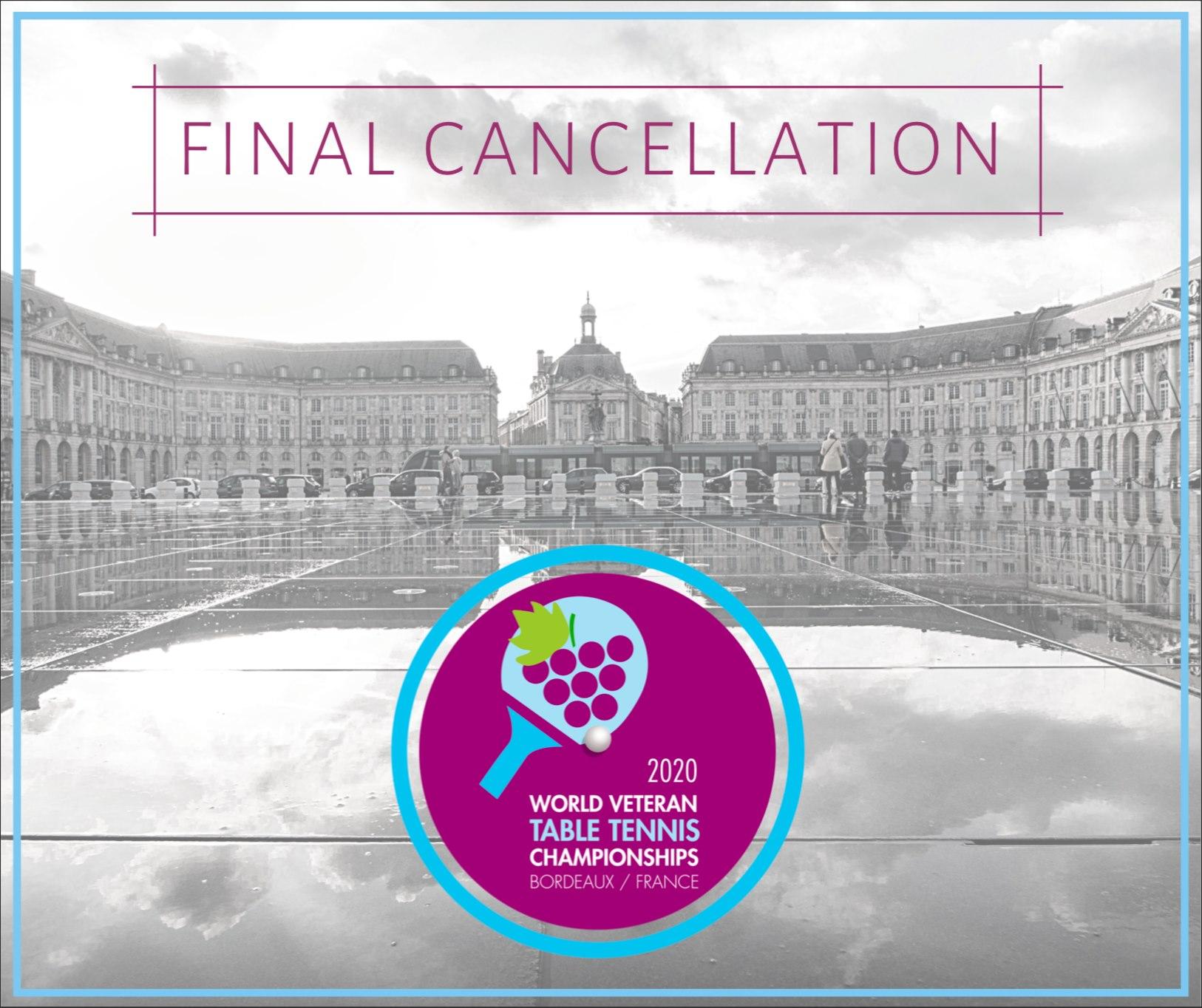 Update:Finale Absage der Senioren WM in Bordeaux
